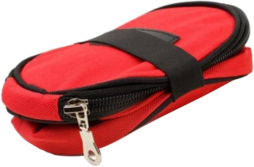 joyMerit Collapsible Pet Cat Dog Bird Food Storage Bag Bowl for Travel Camping 3Kg - Red