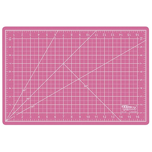 US Art Supply 12″ x 18″ PINK/BLUE Professional Self Healing 5-Ply Double Sided Durable Non-Slip PVC Cutting Mat Great for Scrapbooking, Quilting, Sewing and all Arts & Crafts Projects