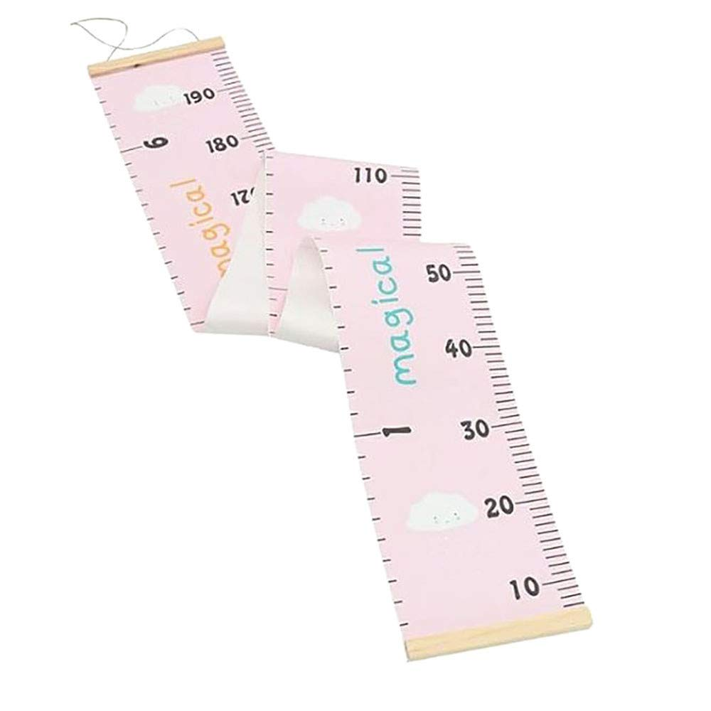 TAOtTAO Baby Height Growth Chart Hanging Rulers Kids Room Wall Wood Frame Home Decor New