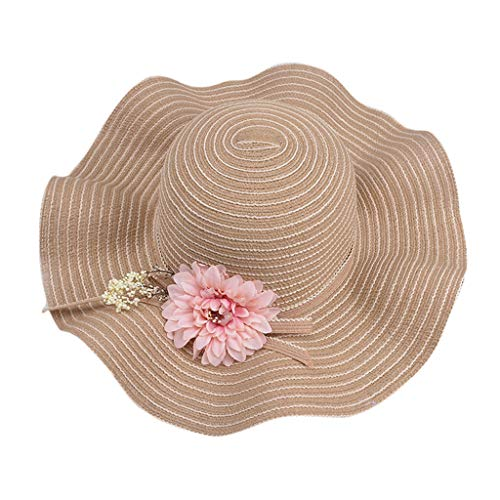 Weiliru Women Floppy Derby Hat Wide Large Brim Beach Straw Sun Cap ()
