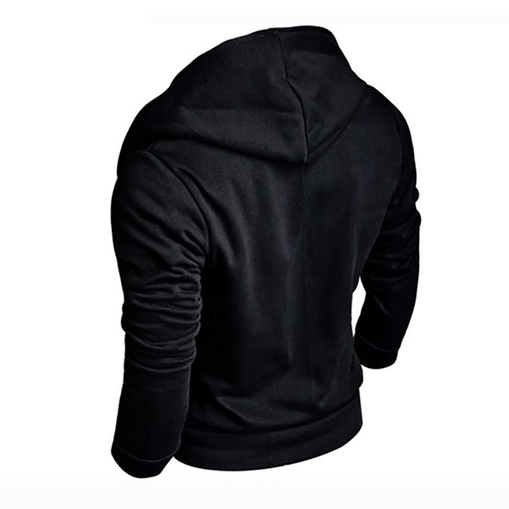 Amazon.com: WM & MW Fashion Mens Long Sleeve Casual Sport Hoodie Jacket Zipper Solid Hooded Sweatshirt Outwear Tops: Clothing
