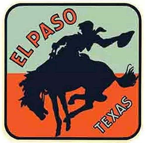 Amazon Com El Paso Texas Rodeo Horse Vintage Decal