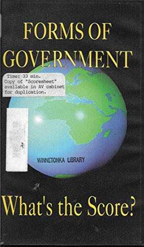 Forms of Government: What's the Score? (Absolute Monarchy, Representative Democracy, Communism, Socialism, and - Government Forms