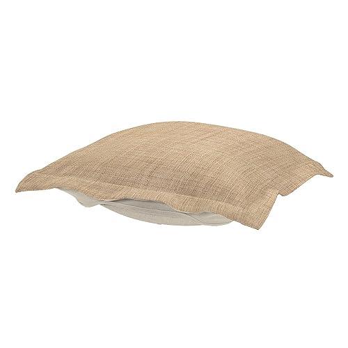 Howard Elliott Puff Ottoman Cushion, Coco Stone