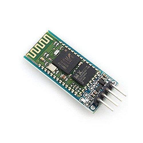 Solu JY-MCU HC-06 Slave Bluetooth Serial Port Transeiver Baseboard Mini module// Arduino Wireless Bluetooth Transceiver Module Slave 4Pin (Bluetooth Wireless Transceiver)