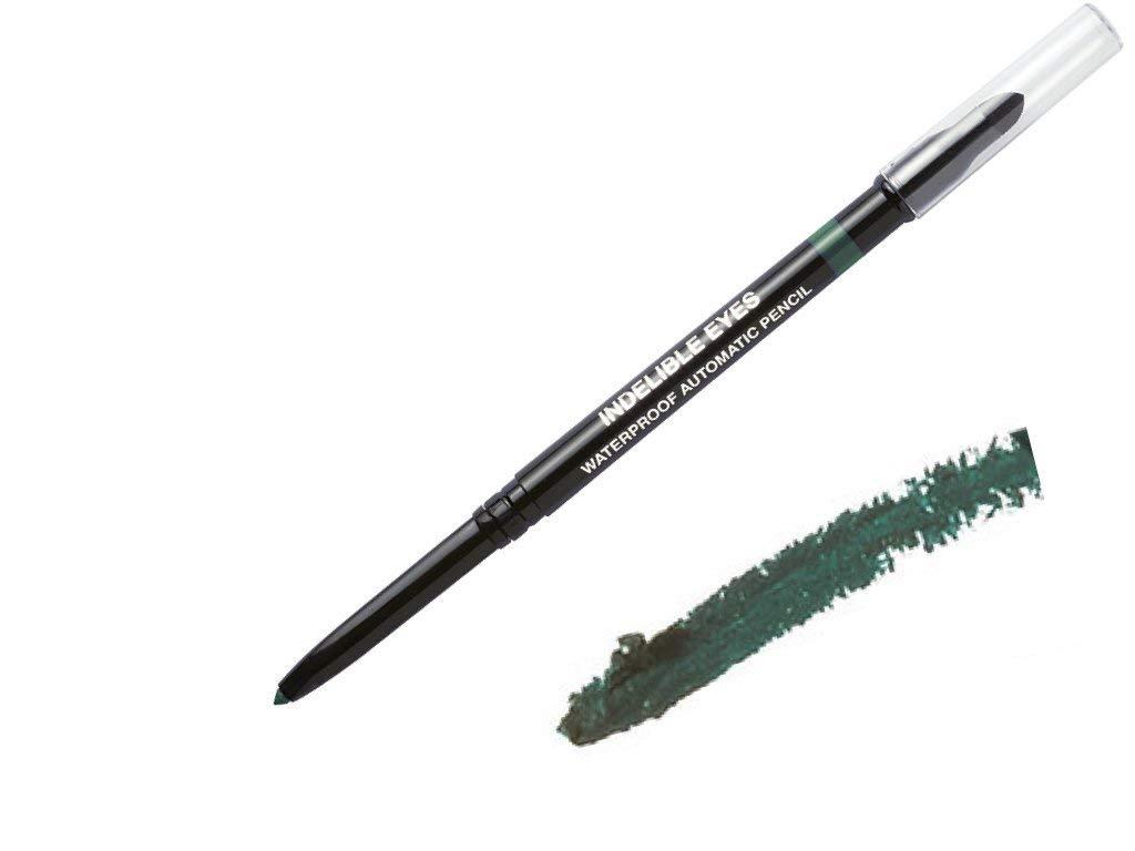Indelible Eyes Smooth Waterproof Gel Eyeliner - JADED CREEN- Smudge proof - Ultra Smooth - Super Easy - Long lasting - Blender tip - Longwear - no sharpener needed - Twist Out - Slim-line Pencil