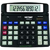 Victor 1200-4 12 Digit Professional Desktop Calculator, Black