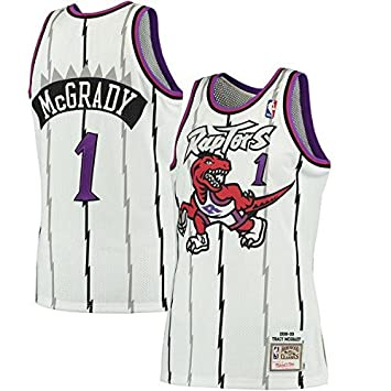 Men s Toronto Raptors Tracy McGrady Mitchell   Ness White 1998-99 Hardwood  Classics Swingman Jersey 187a61675