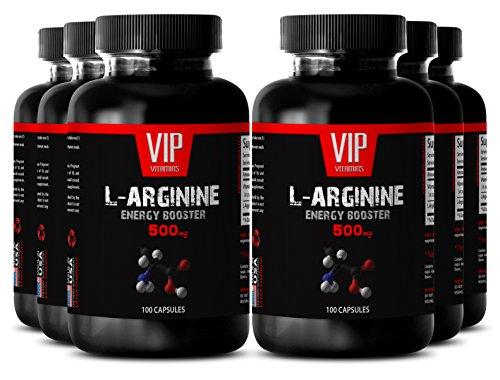 VIP VITAMINS Arginine weight loss - L-ARGININE Energy Booster 500 mg - Increase stamina - 6 Bottles 600 Capsules by VIP VITAMINS