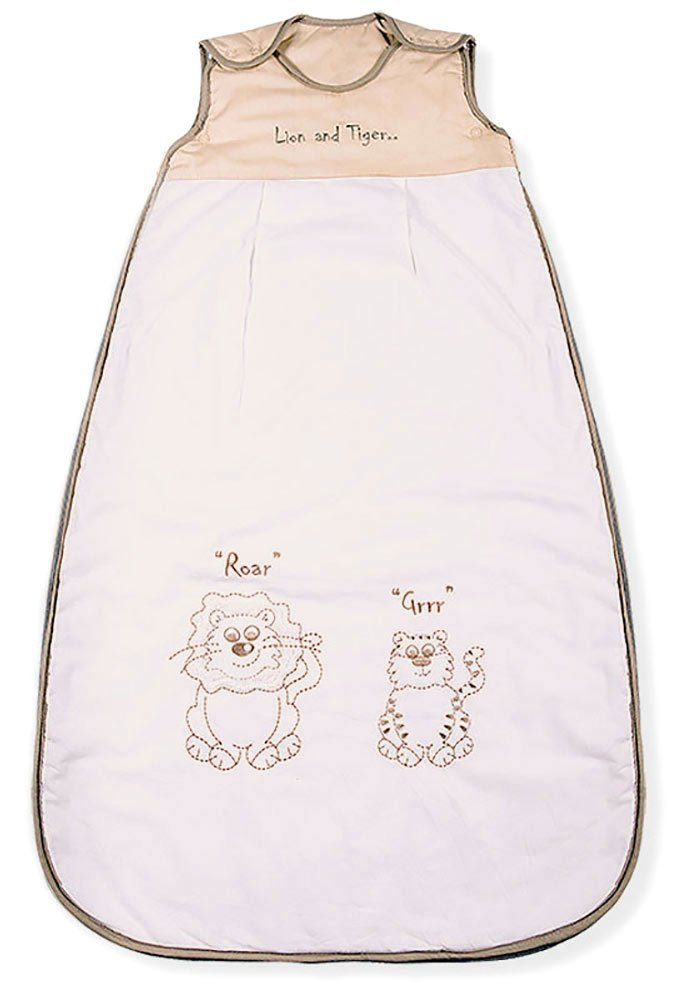 Baby Sleeping Bag, Lion & Tiger, Kiddy Kaboosh Various Sizes, Winter Weight, 3.5 Tog, Size 1: 0-6 Months, Cosy & Safe, Perfect Presents, Machine washable Mr Sandman