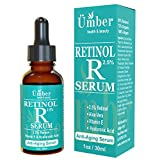 Retinol Serum 2.5% Anti-Aging Serum with Vitamin E & Hyaluronic Acid by Umber NYC (1 OZ)
