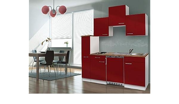 respekta KB180WWMI - Bloque de Cocina (180 cm Blanco Rojo ...