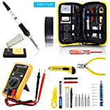 Magneto's Soldering Iron Kit, Updated Soldering Gun Kit Best for Electric, Jewellery & Welding Work - Digital Multimeter, Screwdiver, Soldering Iron Holder (28pcs Set) Best Gift