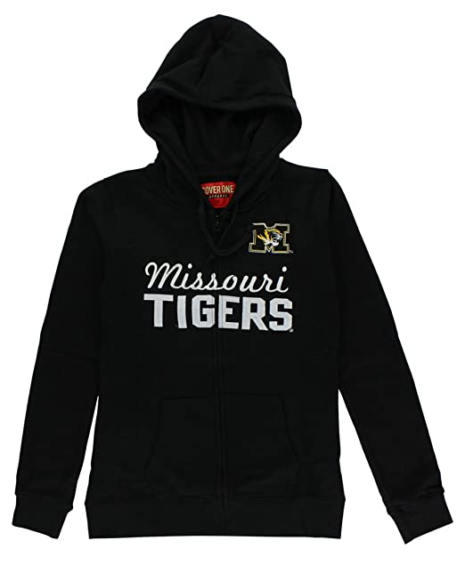 15fc4f005 Cover One Womens Missouri Tigers Cotton Full Zip Hoodie Black M at ...