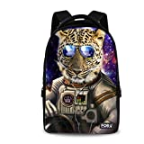 FOR U DESIGNS Casual Leopard Print Travel Computer Backpack for Boys Girls For Sale