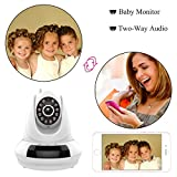 Amgaze IP Camera, 720P HD Wireless Wifi Pan / Tilt Security Surveillance with Two-Way Audio, Night Vision, Motion Detection, SD Card Slot, P2P Network Nanny Cam Baby Video Monitor