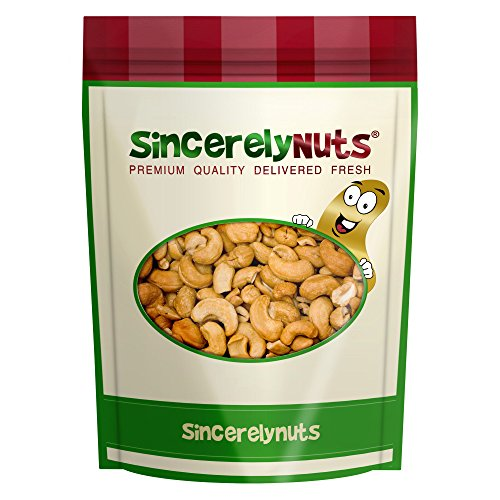 Sincerely Nuts Whole Cashews Roasted & Unsalted - Five Lb. Bag - Enticing Taste - Delightfully Crunchy - Healthy Nutrients- Kosher