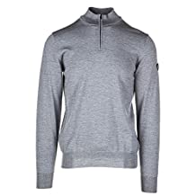 Emporio Armani EA7 men's jumper sweater pullover with zip grey US size M (US 38) 6YPMY1 PM04Z 3905
