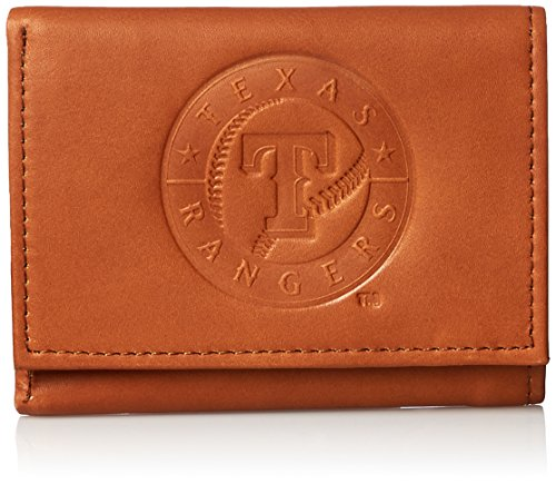 MLB Texas Rangers Embossed Genuine Cowhide Leather Trifold -