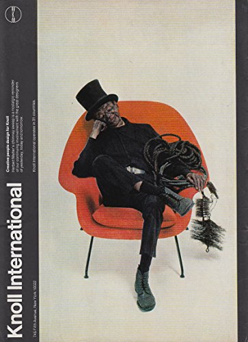 Knoll Associates #70 Eero Saarinen Chair MAGAZINE AD 1973 NY chimneysweep