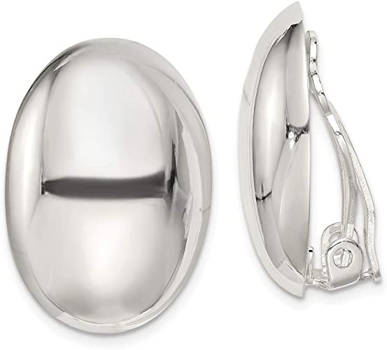 925 Sterling Silver Non Pierced Clip On Earrings Fine Jewelry For Women Gifts For Her