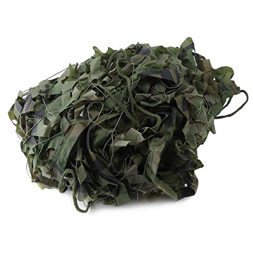 20 X 5 Feet Woodland Leaves Military Camouflage Net Sun Shelter Car-Covers(Color:Camouflage)(Size:)
