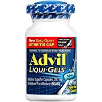 Advil Liqui-Gels Pain Reliever and Fever Reducer, Solubilized Ibuprofen 200mg, 160 Count, Easy Open Arthritis Cap