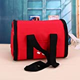 Zehui Soft-Sided Pet Carrier Portable Travel Bag Kennel for Cats, Dogs and Puppies Lightweight Breathable Handbag for Pets Red M