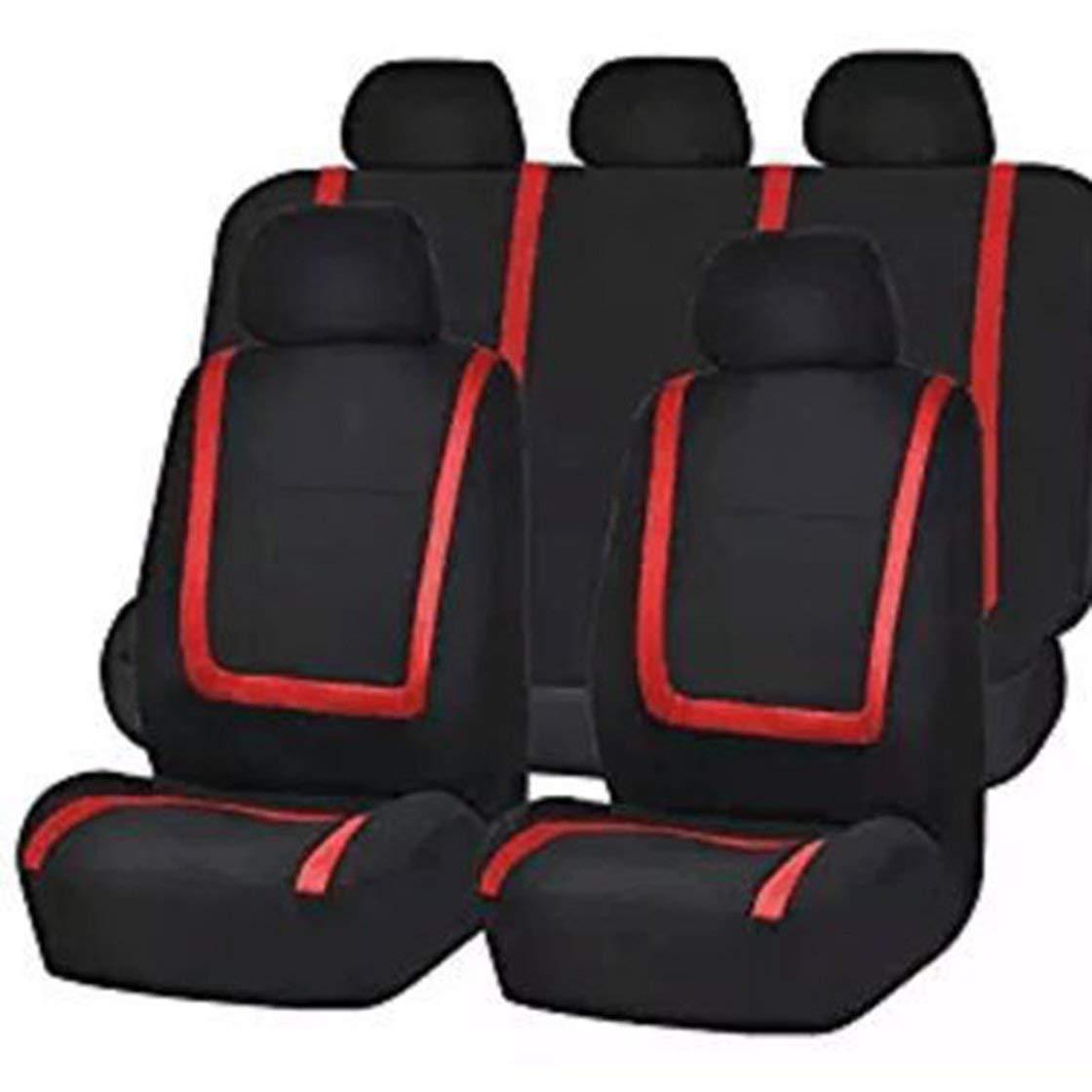 Hermosairis 9 Teile/Satz Mode Gestreiften Autositzbezü ge Staubdicht Waschbar Sitzschutz Universal Sitzbezü ge fü r Auto Autos