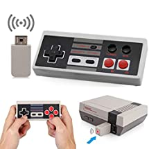 Wireless NES Classic Mini Rechargeable Controller,NES Wireless Gamepad For Nintendo NES Classic Mini Edition, Wireless Joypad & Gamepads Controller (Nintendo Entertainment System Classic Mini)