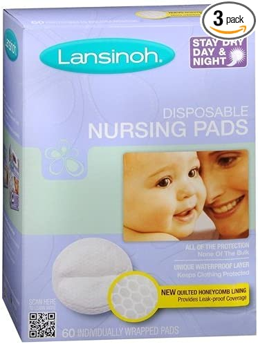 Lansinoh Nursing Pads Pack of 36 Stay Dry Disposable Breast Pads