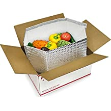 10 Pack Thermal box 8 x 8 x 8 Foil Insulated Box Liners. Bottom Gusseted Box Liners for shipping food, pharmaceuticals, biotech, cosmetics. Gusseted bottom.