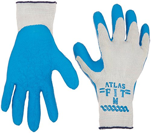 (Atlas Fit 300 Size Medium Rubber Coated Glove 12 Pairs)