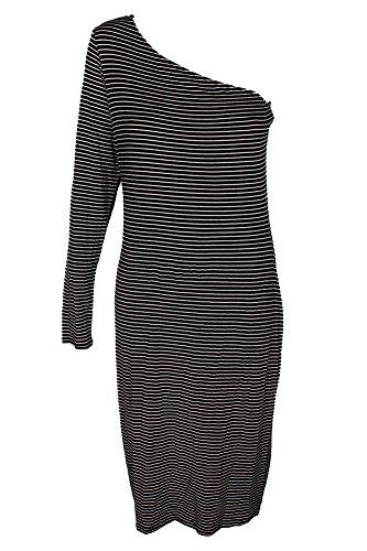 Dress Bar One Black Bodycon Shoulder XL III Combo rIIwqHU