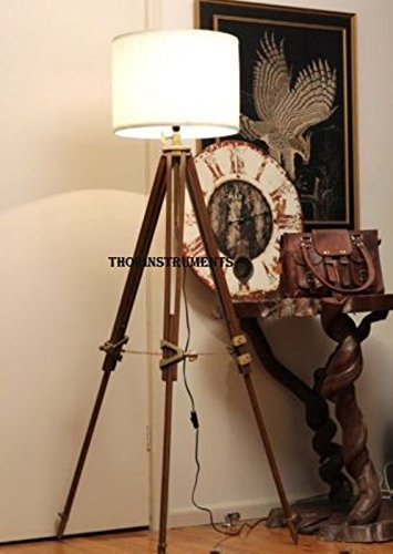 - THORINSTRUMENTS (with device) Thor Vintage Classic Tripod Floor Lamp Nautical Floor Lamp Home Decor lamp