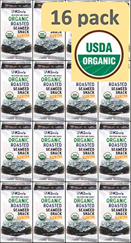Kim's USDA Organic Seaweed (Nori) Snacks (16 pack) USA version