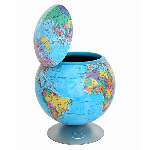 iTouchless Sensor Desktop Globe Automatic Trash Can 2.8 Liter - Decorative for Kitchen Countertop, Bedroom, Living Room, Office - Great Gift Idea ()