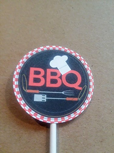 BBQ Party Cupcake Toppers/Picks set of -