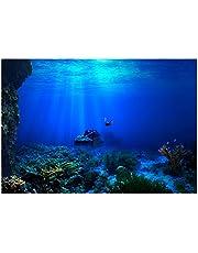 Esenlong Ryby zbiornik tło dekoracje akwarium akwarium obraz efekt 3D klej plakat morski plakat do akwarium ryba dekoracja zbiornika