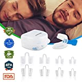 Snore Stopper, 8+1 Value Set Professional Snoring Solution, with Anti Snoring Mouthpiece, 8 Set Nose Vents Nasal Dilators, Relassy Sleep Aid Devices Snore Reducing for Men&Women