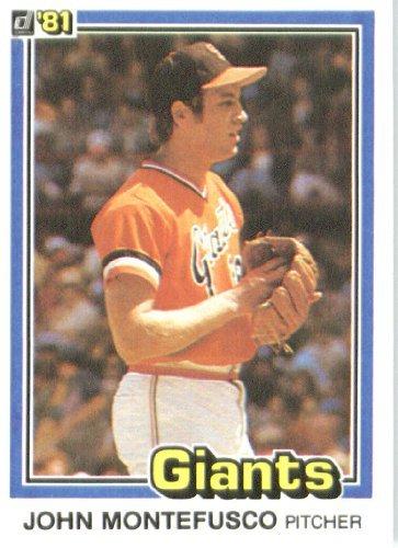 1981 Donruss Baseball Card #434 John Montefusco Near Mint (1981 Donruss Card)