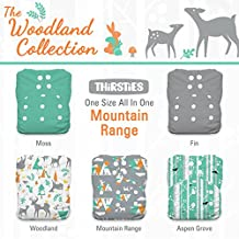 Thirsties Package-Snap One Size All in One-Woodland Collection, Mountain Range