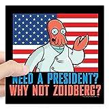 zoidberg decal - CafePress - Futurama Why Not Zoidberg Square Sticker 3
