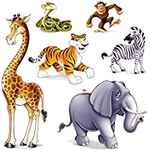 Jungle Animal Props Party Accessory (1 count) (6/Pkg)