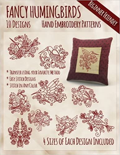 Fancy Hummingbirds Hand Embroidery Patterns Stitchx Embroidery