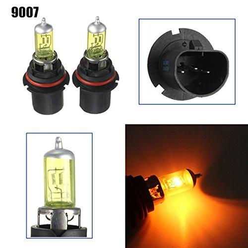 ZHENWOCAI A Pair of 9007 HID Xenon Light Bulbs Lamps DC12V Yellow 3000K-3500K New