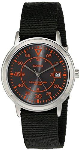 Casio Unisex MTP-S100-1BVCF Solar Easy-To-Read Black Watch