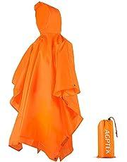 AGPTEK Poncho Impermeabile, Poncho Impermeabile Multi-Funzionale 3-in-1 con Cappuccio Riutilizzabile Antipioggia Coperta da Picnic Tenda per Uomo e Donna
