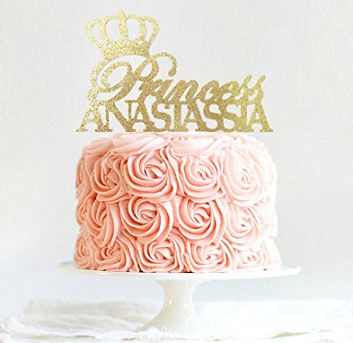 Fantastic Princess Cake Topper Personalized Tiara Cake Topper Birthday Personalised Birthday Cards Veneteletsinfo