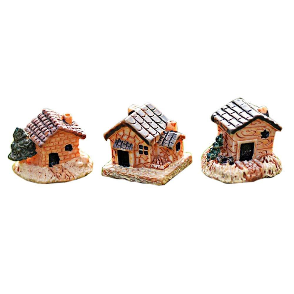 Pumsun DIY Craft Accessory Home Mini Dollhouse Stone House Resin Decorations Garden Home Decorations (Random)